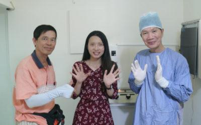 手汗案例|台中康小姐26歲 上班族 於2018/6/9治療嚴重手汗